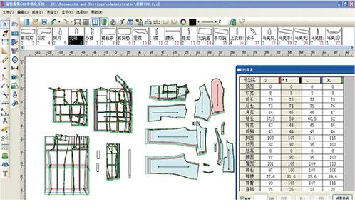 Garment Cad Pattern Design System V 9
